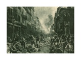 Battle at Night in Mulhausen Giclee Print by Felix Schwormstadt