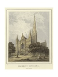 Salisbury Cathedral, West Front Giclee Print by Hablot Knight Browne