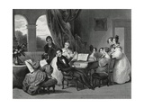 The Family Concert Giclee Print by Achille Deveria