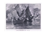 Attack on the Chinese Junks AD 1841 Giclee Print by William Heysham Overend