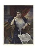 Portrait of Madame La Cometesse De Kersaint Giclee Print by Francois Flameng