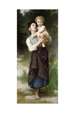 Brother and Sister, 1887 Giclee Print by William Adolphe Bouguereau