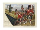 The Black Watch, Royal Highlanders Giclee Print by Richard Simkin