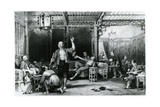 Chinese Opium Smokers, 1843 Giclee Print by Thomas Allom