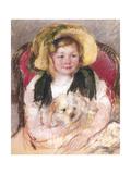 Sara with Her Dog in an Armchair, 1901 Giclee Print by Mary Stevenson Cassatt