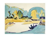 Park in Dresden, 1910 Giclee Print by Ernst Ludwig Kirchner