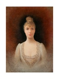 Portrait of a Flaxen-Haired Woman Giclee Print by Georges Croegaert