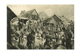Supplies in a Back Area Station in Russian Poland Giclee Print by Felix Schwormstadt