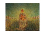 Madonna of Lilies, 1893 Giclee Print by Gaetano Previati