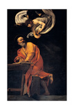 St. Matthew and the Angel, 1602 Giclee Print by  Caravaggio