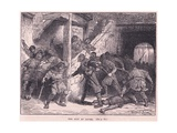 The Riot at Dover Ad 1051 Giclee Print by Francois Edouard Zier