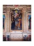 Madonna in Glory with Sts Eusebius and Ursus Giclee Print by Lodovico Carracci