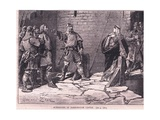 Surrender of Bamborough Castle Ad 1095 Giclee Print by Francois Edouard Zier