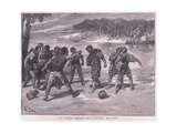 The Sailors Quarrel Near Bayonne Ad 1292 Giclee Print by Francois Edouard Zier