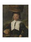 Fisher Girl Reproduction procédé giclée par Frans Hals