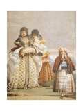 Winter Walk Giclee Print by Giambattista Tiepolo