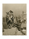 Laying the Foundations of British Rule in India Giclee Print by Richard Caton Woodville II