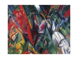 In the Rain, 1912 Giclee Print by Franz Marc