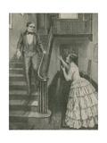 Morse Hears the Wonderful News Giclee Print by Charles Mills Sheldon