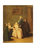 The Friars Visit Giclee Print by Pietro Longhi