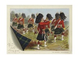 The Gordon Highlanders Giclee Print by Richard Simkin