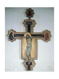 Painted Crucifix Giclée-tryk af Pietro Lorenzetti
