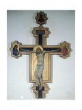 Painted Crucifix Giclee Print by Pietro Lorenzetti