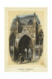 Lincoln Cathedral, South Entrance Giclee Print by Solomon Alexander Hart