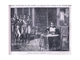 Napoleon Signing His Abdication Giclee Print by William Barnes Wollen