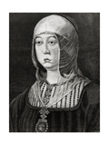 Isabella I of Castile Giclee Print by Arturo Carretero y Sánchez