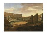 Interior of Colosseum Giclee Print by Gaspar van Wittel
