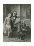 Nathaniel Hawthorne Reading to His Children Giclee Print by Charles Mills Sheldon
