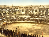 Inside the Amphitheatre at Nîmes, 1890-1900 Photographic Print