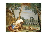 Peasants at Rest Giclée-tryk af Giandomenico Tiepolo