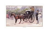 Hansom Cab Giclee Print by Ernest Ibbetson