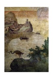 Fishing Scene Giclée-tryk af Antonio Tempesta