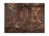 Sacrilegious Robbery Giclée-tryk af Alessandro Magnasco