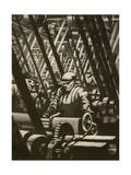 Making the Engine, 1917 Giclee Print by Christopher Richard Wynne Nevinson