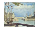 Sunday, Port-En-Bessin, 1888 Gicléedruk van Georges Seurat