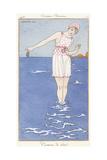 Parisian Clothing: Bathing Costume, 1913 Reproduction procédé giclée par Georges Barbier
