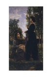 Confidences, 1868 Giclee Print by Cristiano Banti
