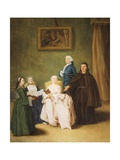 Monk's Visit Giclee Print by Pietro Longhi