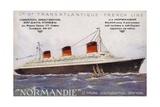 French Ocean Liner Normandie Giclee Print