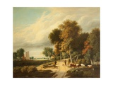 A Scene in Norfolk Giclee Print by Samuel David Colkett
