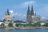 Germany - Cologne. View with Cathedral Photographic Print