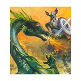 Scene from Beowulf Giclee Print by Andrew Howat