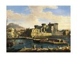 Docklands in Naples, 1702 Giclée-Druck von Gaspar van Wittel