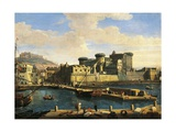 Docklands in Naples, 1702 Giclee Print by Gaspar van Wittel