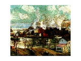 Spuyten Duyvil Creek, Brooklyn, New York, C.1914 Giclee Print by Ernest Lawson