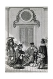 Scene from Litigants Giclee Print by Jean Racine